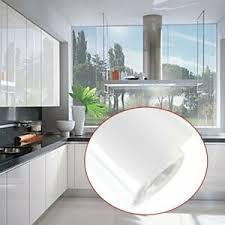 5m weiß möbelfolie hochglanz klebefolie küchenfolie