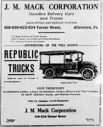100 Jm Truck Sales File1918 J M Mack Corporation Newspaper Ad2 Allentown PAjpg