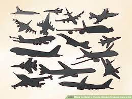 4 ways to build a plastic model airplane from a kit wikihow