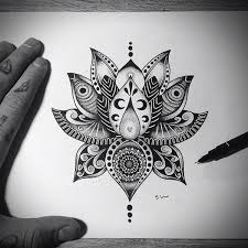 Mandala Lotus Designs Flower Tattoo Design On