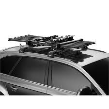 porte skis sur barres de toit thule snowpack 7326 pour 6 paires de