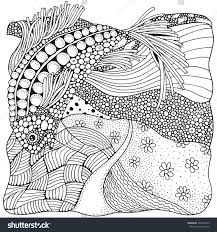 Black And White Abstract Fantasy Picture Coloring Book For Adult Zen Art Fantastic
