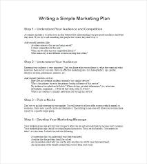 Simple One Page Marketing Plan Template Free Cover Small Business Templates Doc Google Docs