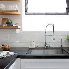 White Kitchen Tiles Ideas Small White Horizontal Kitchen Wall Tiles Design Ideas