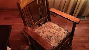 98 Restoring Craftsman Style Antique Oak Rocking Chair - YouTube Vintage Exposed Wood Rocking Chair With Upholstered Seat By Antique Open Arm Rocking Chair Upholstered Seat And Back Summer Days Wooden Mahogany Lincoln Rocker Sell 6 Needlepoint Covers Upholstery From Vulcanlyric Amazoncom Fniture Of America Betty Oak With Cane And Back Ebth Hcom Lounger Relaxing Padded Love Shop Quality Hospality Rattan Legacy Cushioned Outdoor Interior Design