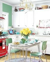 Turquoise Kitchen Appliances Retro White And Green Via Blogebatescom 360x450 50s Kitchens Aid