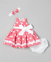 adorable pink polka dot dress set clothes for the next baby