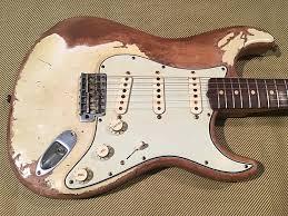 Relic John Mayer Black1 Inspired TimeWarp 63 Fender Vintage White Strat Custom Shop 69 Abby Pickups