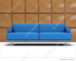 100 Decorated Wall House Living Blue Sofa With Stock Illustration