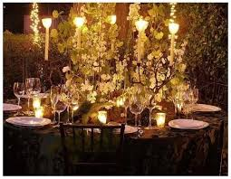 The Table Decorations Lots Of White Flowers Branches And Moss Stunning