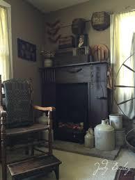 Primitive Living Room Furniture by Primitive Fireplace My Primitive Home Photos Pinterest