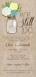 Mason Jar Printable Invitation Rustic Wedding Program Vow Renewal
