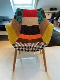 3 x esszimmer stuhl zuiver twelve patchwork bunt 60x82x60