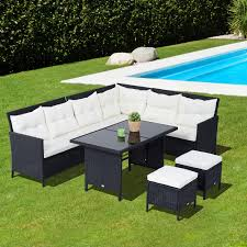 Outsunny Patio Furniture Canada by Outsunny 6pcs Outdoor Rattan Wicker Sofa Garden Sectional Couch