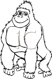 Best Gorilla Clipart Black and White Clipartion