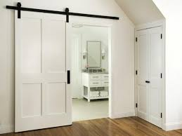 White Barn Door For Bathroom : DIY Barn Door For Bathroom – The ... White Barn Door Track Ideal Ideas All Design Best 25 Sliding Barn Doors Ideas On Pinterest 20 Diy Tutorials Jeff Lewis 36 In X 84 Gray Geese Craftsman Privacy 3lite Ana Door Closet Projects Sliding Barn Door With Glass Inlay By Vintage The Strength Of Hdware Dogberry Collections Zoltus Space Saving And Creative