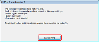 When EPSON Status Monitor 3 Tells You To Cancel Your Print Job Click Stop Or