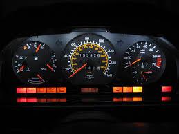improved dash lighting 300e 1986 peachparts mercedes shopforum