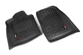 Rugged Ridge Floor Liners by Rugged Ridge 12920 32 Floor Liners Front Black 12 17 Dodge