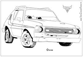 Warm Cars2 Coloring Pages Cars 2