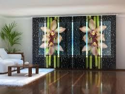 huis fotogardine bambus schiebevorhang schiebegardine