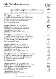 Halloween H20 Soundtrack Download by Ukulele Chords Mr Sandman By Pat Ballard The Chordettes