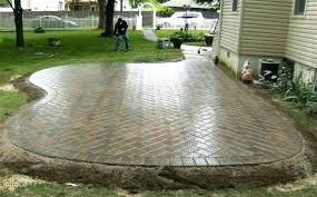 Diy Paver Patio Cost Perfect Ideas Patio Stone Stunning Stone