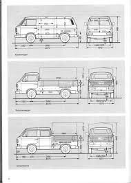 100 Food Truck Dimensions Volkswagen T3 Drawings VW T3 Vw Transporter Dimensions