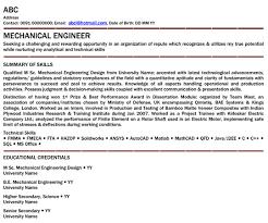 Mechanical Engineer Professional Resume Samples