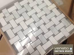 carrara venato 1纓2窶ウ bursa beige basketweave mosaic tile the