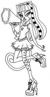 Monster High Baby Frankie Stein Coloring Pages Girls Free Sweet 1600