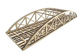 100 Bowstring Roof Truss Double Track LowDetail Bridge