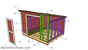 How To Build A Lean To Shed Plans Free by 10x12 Lean To Shed Plans Myoutdoorplans Free Woodworking Plans