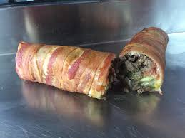 Food Truck Sells Huge Burritos Wrapped In Bacon - Business Insider Oct 29 2015 St Helena Ca Us Left To Right From Top The Panozzos Italian Market Great Porchetta Beef Pronto Caffe Fresh Pasta Plate Vanfoodiescom Cucina A Go Food Truck Niagara Street Eats Columbus Medford Food Truck Is Wellcrafted Dream Homemade Sandwiches With Salsa Verde Crackling For Pig Out Eating Las Vegaseating Vegas Pulled Pork Meat Italian Wedding Porchetta Stock Video Tasty Cooking Arista Alla Our Table If Youre So Over Christmas Turkey Give Your Big Day An