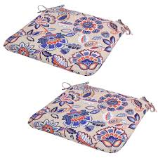 Outdoor Bench Cushions Home Depot by Parchment Jacobean Outdoor Seat Cushion Pack Of 2 7348 02229400