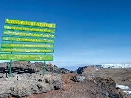 Uhuru Peak On Mount Kilimanjaro