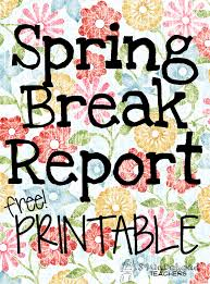 Spring Break Report Sticker