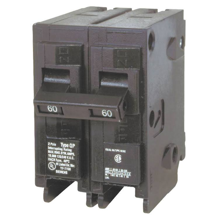 Siemens Q260 Double Pole Type QP Circuit Breaker - 60 Amp