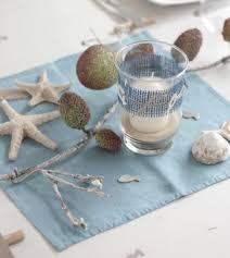 γγρ une décoration de table sur le thème de l océan et de la mer