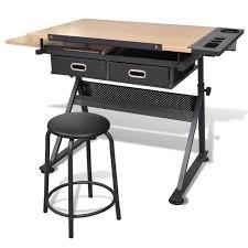 bureau a dessin p196 table a dessin inclinable avec tabouret achat vente table d