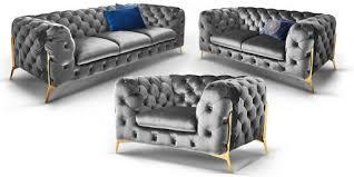 couchgarnitur 3 2 1 sitzer chesterfield sofa superior samt