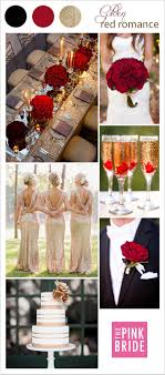 Gold And Red Color Palette Board Wedding Inspiration