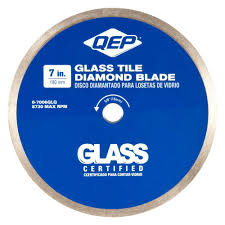 Dewalt Tile Saws Home Depot by Qep 7 In Glass Tile Diamond Blade For Wet Tile Saws 6 7006glq