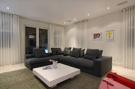 View In Gallery Sheer Drapes Look Lovely Even The Contemporary Living Room