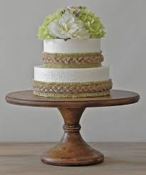 16 Wedding Cake Stand Pedestal Wooden Rustic Country Decor E Isabella Designs As Featured In Martha Stewart Weddings