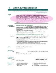 How To Write A Nursing Resume by Best Registered Resume Exle Slebusinessresumecom