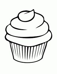 Cute Cupcake Drawings A Drawing A Cupcake Cute Cupcake Outline Clipart Clipart Kid