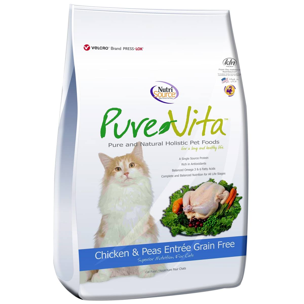 Pure Vita Grain Free Chicken Dry Cat Food - 15lb