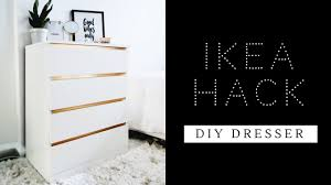 Malm 6 Drawer Dresser Dimensions by Easiest Ikea Hack Ever Diy Dresser Malm Dresser Youtube