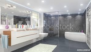 3d illustration modernes badezimmer mit einem whirlpool